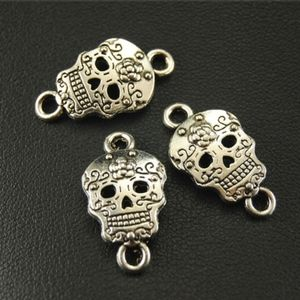 Sugar Skull Face Charms for Jewelry Making NWOT